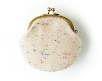 Metal frame coin purse // Colorful Nep