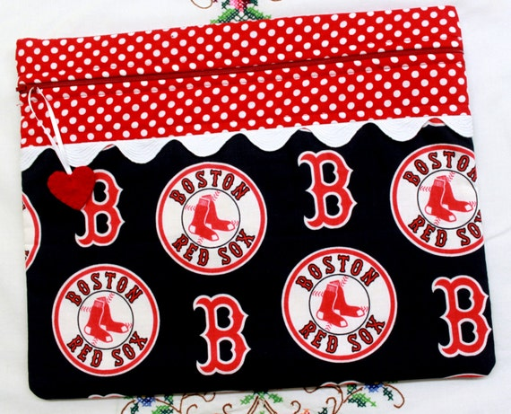 Boston Red Sox Cross Stitch, Embroidery Project Bag