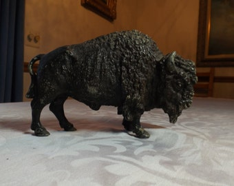 RARE Large pewter bull in excellent condition. Home,library, shelf or mantle decor.Gift.