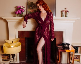 Ingrid Gown in Berry Lace