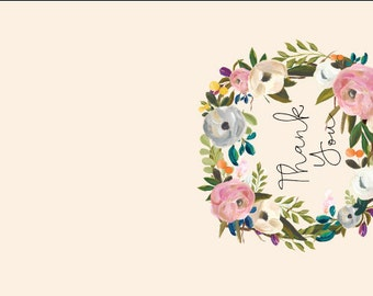 Muted Blooms | Wedding Collection | Thank you Notes