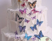 Edible butterflies, 27 Assorted sizes for wedding cake toppers, cake decorating, Wafer paper butterflies, , cupcake butterflies, cake pops.