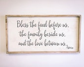Bless The Food - Family Sign - Wood Sign