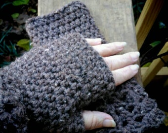 Crochet Fingerless Mitts Gloves Mittens Hand Gift Under 20