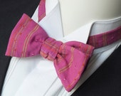 Mens Bow Tie, cotton, freestyle, self tie / adjustable bow tie handmade by Bagzetoile in France