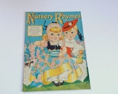 ON SALE Vintage Nursery Rhyme Book - Florence Salter - Vintage Nursery - Nursery Pictures - 1940s Vintage
