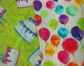 Happy Birthday Reversible Placemat - Child's Birthday Placemat For Their Special Day - Balloons Presents Candles Gifts Happy Birthday Cake