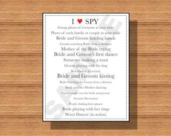 Wedding Reception I Spy Game, Printable I Spy Game, Wedding Photo Hunt Game, Photo Hunt Game for your Special Event, Printable I Spy Game