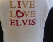 Elvis custom baby onesie