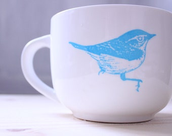 Bird Cup and Feather Plate