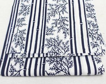 5 pieces Japanese Vintage Indigo Yukata Cotton. Fabric for Traditional Clothing. Hand Dyed Indigo.  (Ref: 1608D)