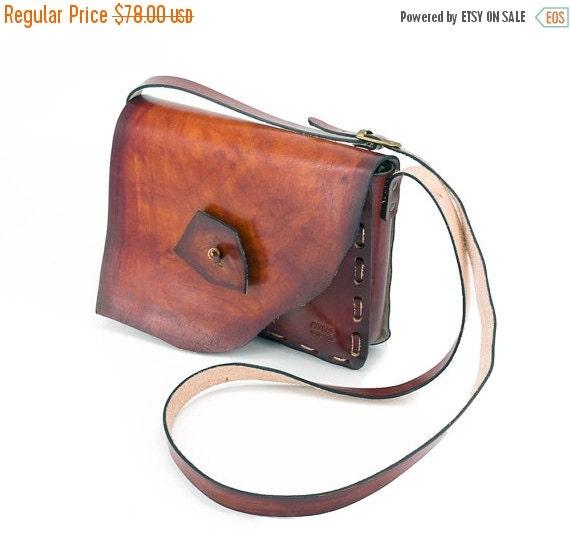 10 % off Medium Size, Shoulder Hippie Boho Bag, Brown Leather  Bag