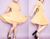 Treasure By Samantha Pleet Marigold Yellow Buttercup Cutout Silk Charmeuse Dress Small