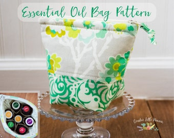 Essential Oil Bag Pattern, Essential Oil Case Pattern, PDF Pattern, Storage for 7 bottles 5 ml, 15 ml & Roller Bottles *Permission to Sell*