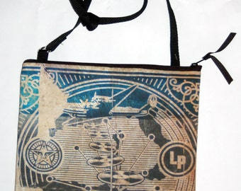 Cross-body purse with Asbury Park's Tillie, Asbury Park Obey Records Poster, or Pelican