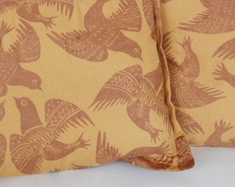 Staffordshire Pottery inspired Pigeons Pillow