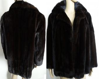 Mink Coat//Stroller Length Mink Coat//Dark Mahogany// Designer Mink Coat//Fur Salon//Dark Mink Coat