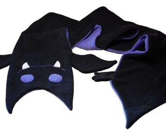 Bat Fleece Scarf