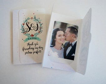 Instant Camera Picture holders watercolor wreath wedding party favor