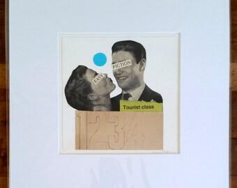 Original collage, vintage paper collage, vintage ad collage