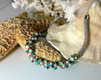 Sand and Surf Beaded Necklace