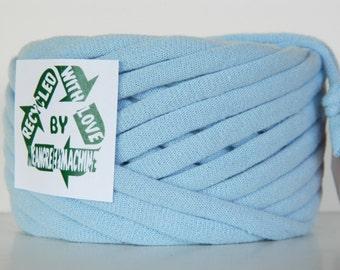 Recycled T-Shirt Yarn, Tee Yarn, Light Blue 31 Yards, T Yarn