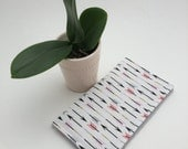Checkbook Cover, Arrow Checkbook Cover, Pink Cover, Cute gift for Coworker, Coupon Wallet, Receipt Wallet, Womans Checkbook Cover