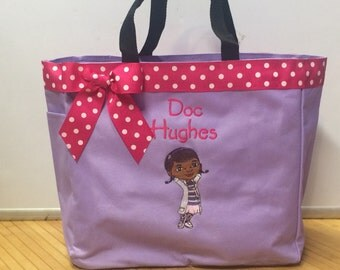 Personalized Doc McStuffins Tote Bag