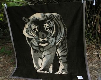 "TIGER Acrylic Blanket Thick Heavy 73"" X 81"""
