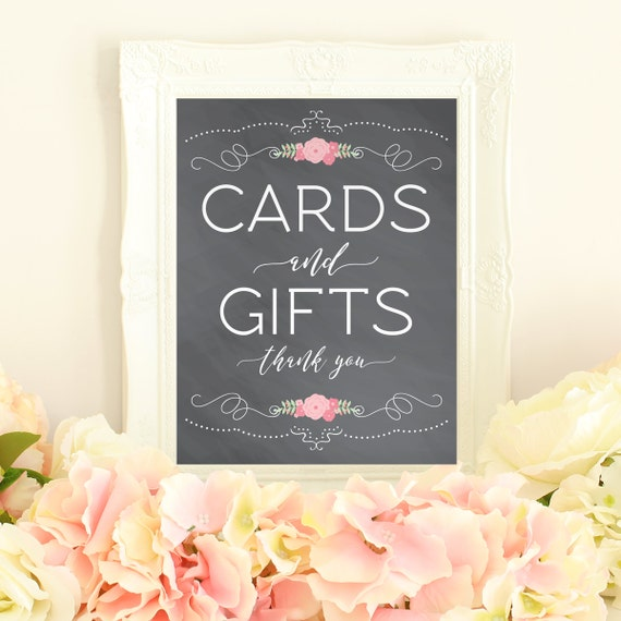 Wedding Gift Table: Cards And Gifts Printable Gift Table Sign Card Table Sign
