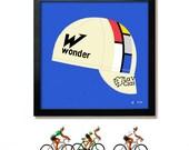 Bike Art, Tour de France, Cycling, La Vie Claire, Cap Print