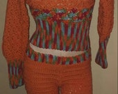 2015 Handmade Crochet Slouch top with Matching Tights...SM-MED