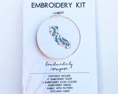 Embroidery Kit Diy Embroidery California State Floral Hoop Make it yourself Crafter Gift Customize Learn to Stitch