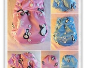 SassyCloth one size pocket diaper different PUL prints. Ready to ship.