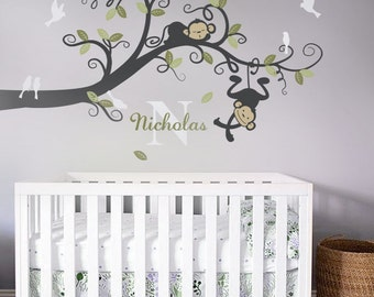 Boy Monkeys wall decal - Kids Wall Decal