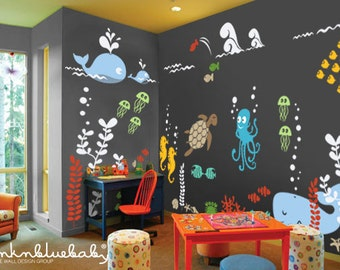 Underwater Wall Decal - Kids and Nursery Wall Decor