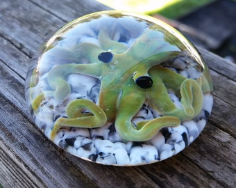 Glass octopus Paperweight #7