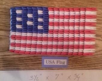 3D Origami USA Flag