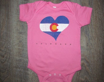 Colorado Heart Onesie- Perfect for that Sweet Baby Girl Valentine gift