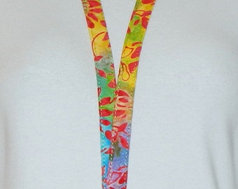 Lanyard - Fabric Lanyard - Teacher Lanyard - Key Lanyard - Badge Holder