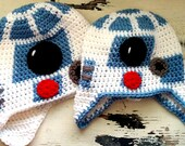 R2D2 Robot Crochet Hat Download PATTERN Star Wars