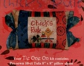 Pine Mountain Designs: Chicks Rule - A Tie One On Cross Stitch Kit