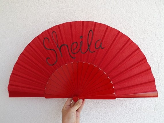 Named Hand Fan