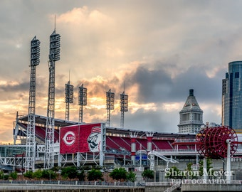 Cincinnati Reds Baseball - Fine Art Photo Print, Wall Decor, Great American Ballpark, Cincinnati Print, Reds Stadium