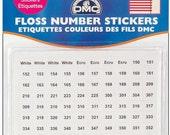 DMC Floss Stickers, Thread codes, DMC Art 117 color codes