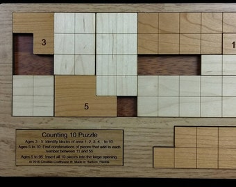 Counting 10 puzzle - multiple challenges for nearly any age