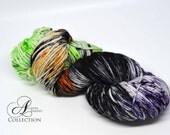 Hand Dyed Superwash Merino - DK weight yarn - Franken Funk Halloween