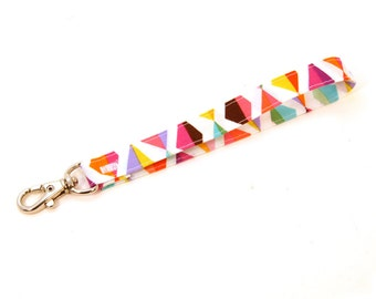 Wrist Strap by MinneBites / Colorful Key Chaing - Wristlet Strap - Handmade Wallet Strap - Wrist Lanyard - Fun Wrist Strap - Ready to Ship