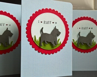 Dog Anniversary Card, Schnauzer Valentine Card, Schnauzer Card, Scottie Card, Terrier Love Card, Dog Lover Gift