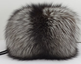 Silver Fox Fur Hand muff New Handmuff made in usa